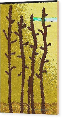 Trees - A Tribute To Vivian Anderson Wood Print by Lenore Senior