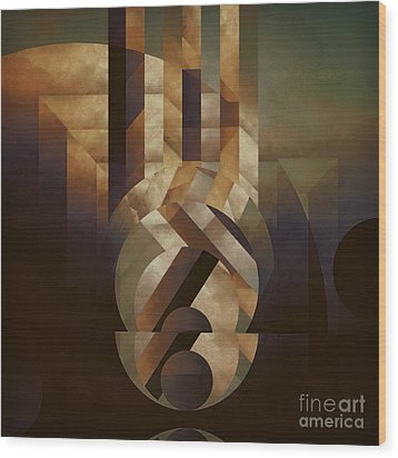 Tremulous Sphere Wood Print by Lonnie Christopher