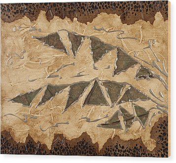 Tribal  Wood Print by Nickie Bradley