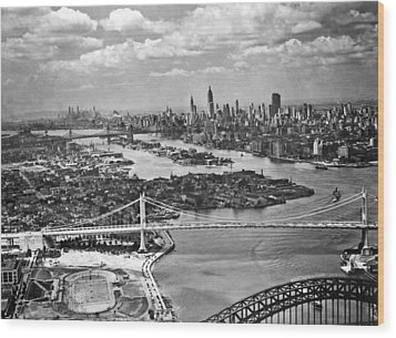 Triborough Bridge Is Completed Wood Print by Underwood Archives