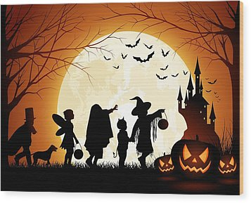 Trick Or Treat Wood Print by Gianfranco Weiss