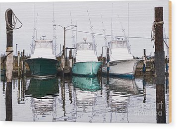 Triple Pleasure - Outer Banks Wood Print by Dan Carmichael