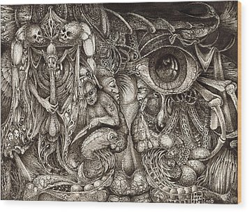 Tripping Through Bogomils Mind Wood Print by Otto Rapp
