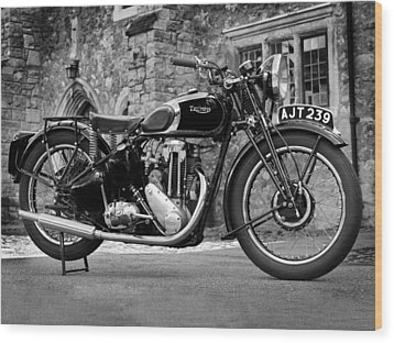Triumph De Luxe 1939 Wood Print by Mark Rogan