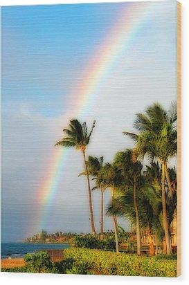 Tropical Dreamin' Wood Print by Lynn Bauer