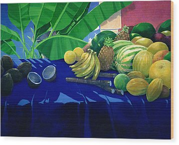 Tropical Fruit Wood Print by Lincoln Seligman