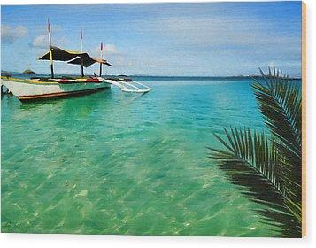 Tropical Getaway Wood Print by Lourry Legarde