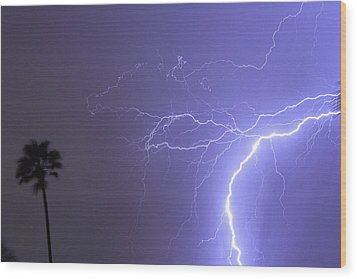 Tropical Thunderstorm Night  Wood Print by James BO  Insogna