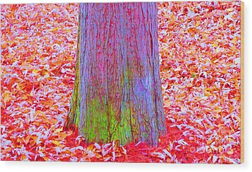 Truncate Wood Print by Ann Johndro-Collins