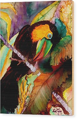 Tu Can Toucan Wood Print by Lil Taylor