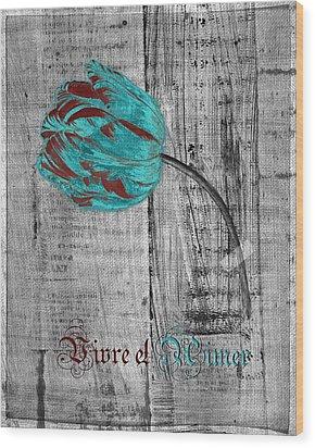 Tulip - Vivre Et Aimer S12ab4t Wood Print by Variance Collections