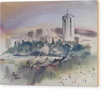 Tulsa Skyline Wood Print by Micheal Jones