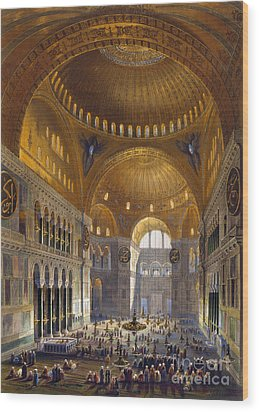 Turkey: Hagia Sopia, 1852 Wood Print by Granger