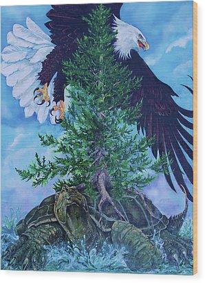 Turtle Island Wood Print by Derrick Higgins