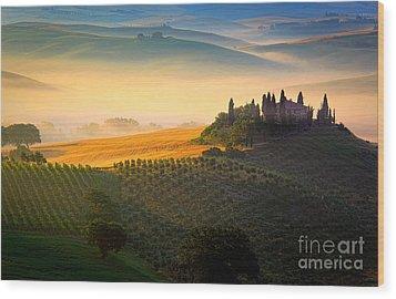 Tuscan Dawn Wood Print by Inge Johnsson