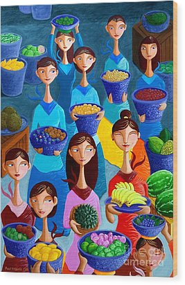 Tutti Frutti Wood Print by Paul Hilario