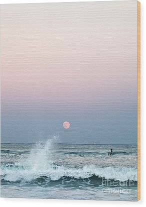 Twilight In Rose Wood Print by Michelle Wiarda