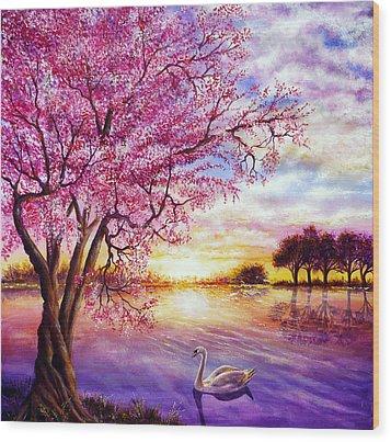 Twisted Blossom Wood Print by Ann Marie Bone