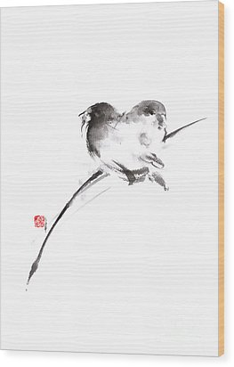 Two Birds Minimalism Artwork. Wood Print by Mariusz Szmerdt
