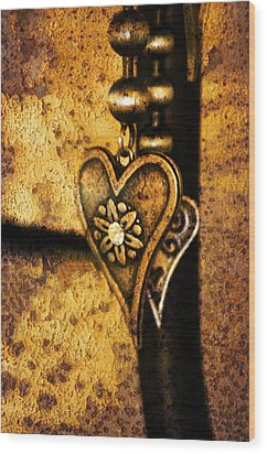 Two Hearts Together Wood Print by Randi Grace Nilsberg