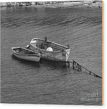 Two Old Rowboats Wood Print by Kathleen Struckle