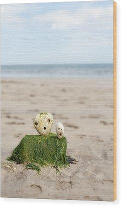 Two On A Beach Wood Print by Svetlana Sewell