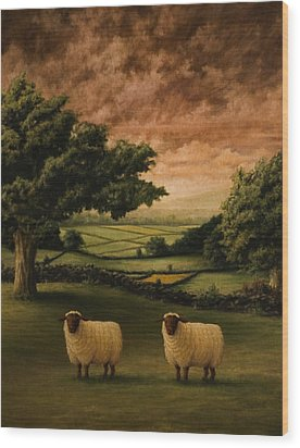 Two Suffolks Wood Print by Mark Zelmer