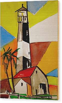 Tybee Lighthouse Wood Print by Pete Maier