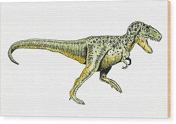 Tyrannosaurus Rex Wood Print by Michael Vigliotti