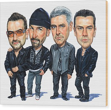 U2 Wood Print by Art