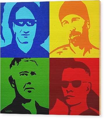 U2 Wood Print by John  Nolan