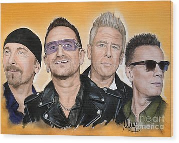 U2 Wood Print by Melanie D