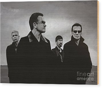 U2 Wood Print by Paul Meijering