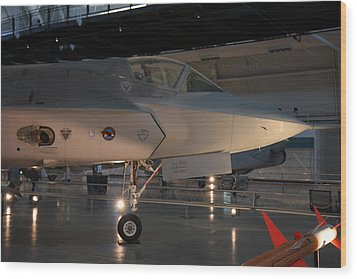 Udvar-hazy Center - Smithsonian National Air And Space Museum Annex - 121221 Wood Print by DC Photographer