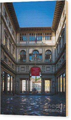Uffizi Wood Print by Inge Johnsson