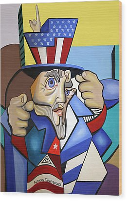 Uncle Sam 2001 Wood Print by Anthony Falbo