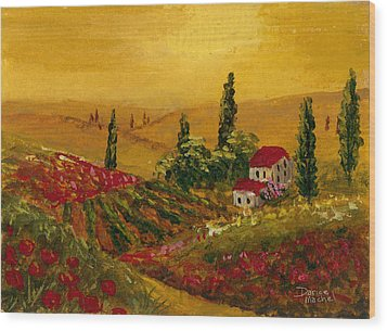 Under The Tuscan Sun Wood Print by Darice Machel McGuire
