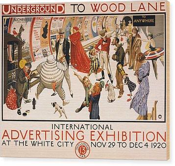 Underground To Wood Lane To Anywhere Wood Print by Georgia Fowler