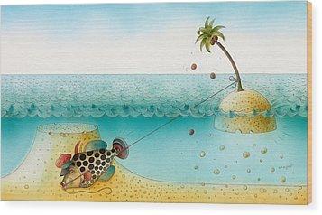 Underwater Story 03 Wood Print by Kestutis Kasparavicius