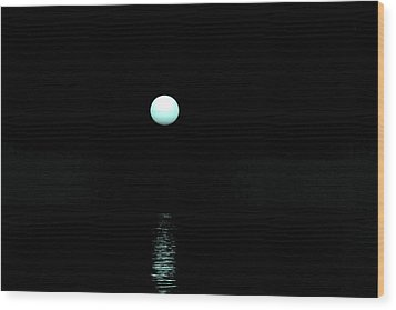Underwater Sunset Wood Print by Max Mullins