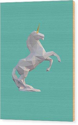 Unicorn Wood Print by Pollyanna Illustration