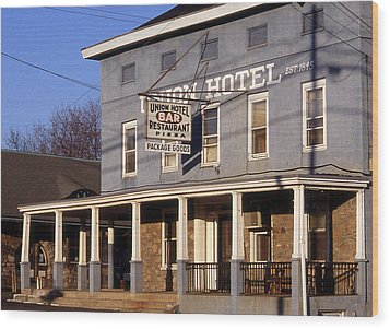 Union Hotel Wood Print by Skip Willits