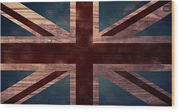Union Jack I Wood Print by April Moen