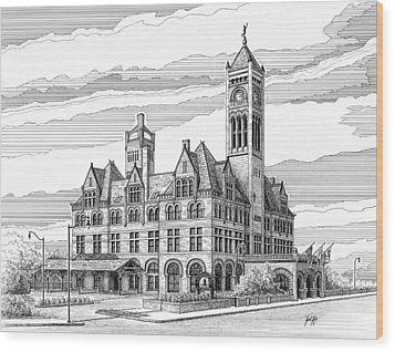 Union Station In Nashville Tn Wood Print by Janet King