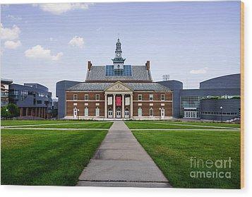 University Of Cincinnati Tangeman University Center  Wood Print by Paul Velgos