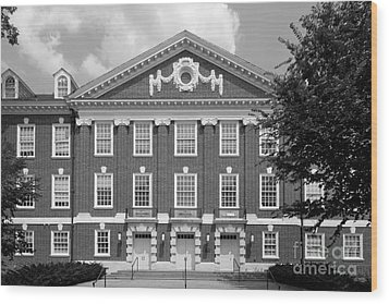 University Of Delaware Wolf Hall Wood Print by University Icons