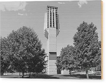 University Of Michigan Lurie Bell Tower Wood Print by University Icons