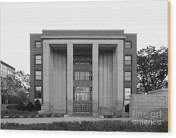 University Of Minnesota Ford Hall Wood Print by University Icons