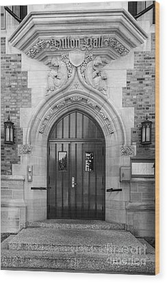 University Of Notre Dame Dillon Hall Wood Print by University Icons