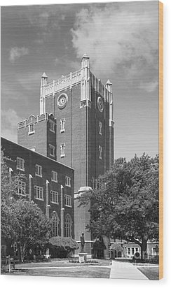University Of Oklahoma Union Wood Print by University Icons